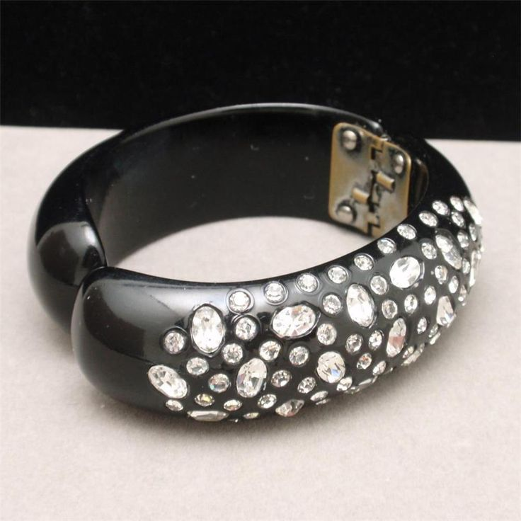 bangle bangles bracelet black hugerect bracelets product jewelry beaded