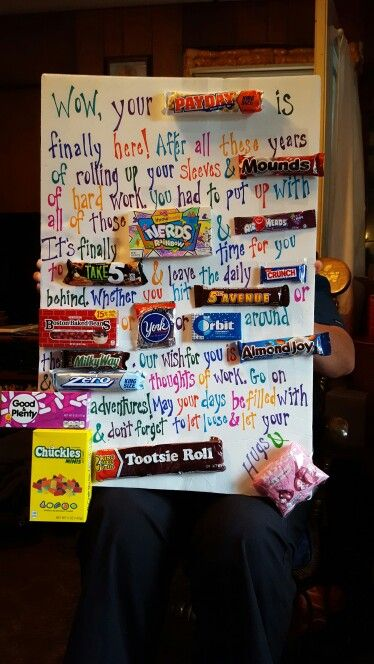 Retirement candy poem | Retirement party gifts, Candy ...