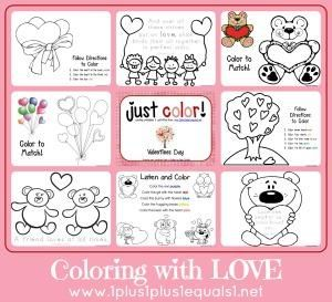 """Just Color"" FREE Valentine's Day Coloring Pages"