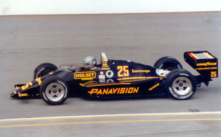 Danny Ongais, before the crash in that would rule him, and this livery out of the 1987 Indy 500