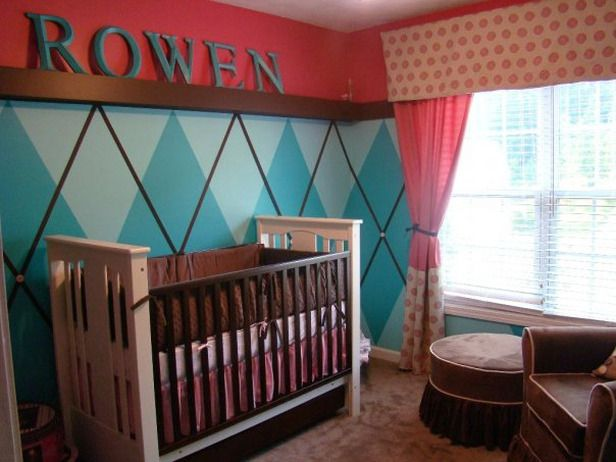 Find Something They Can Grow Into.  To save time and money later, this mom choose a wall treatment and fabrics that aren't too cutesy so she doesn't have to redecorate once her little girl grows up.