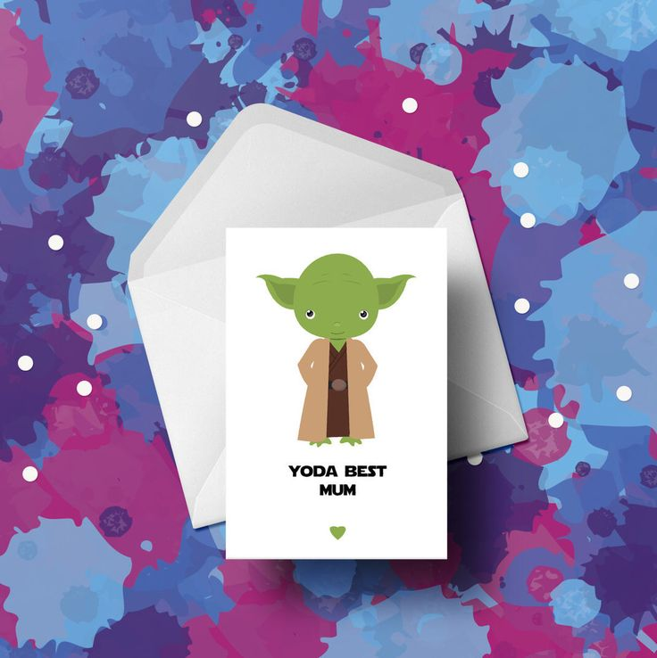 Yoda Card - Mothers Day Card - Star Wars by EntirelyYourOwn on Etsy https://www.etsy.com/uk/listing/499984002/yoda-card-mothers-day-card-star-wars