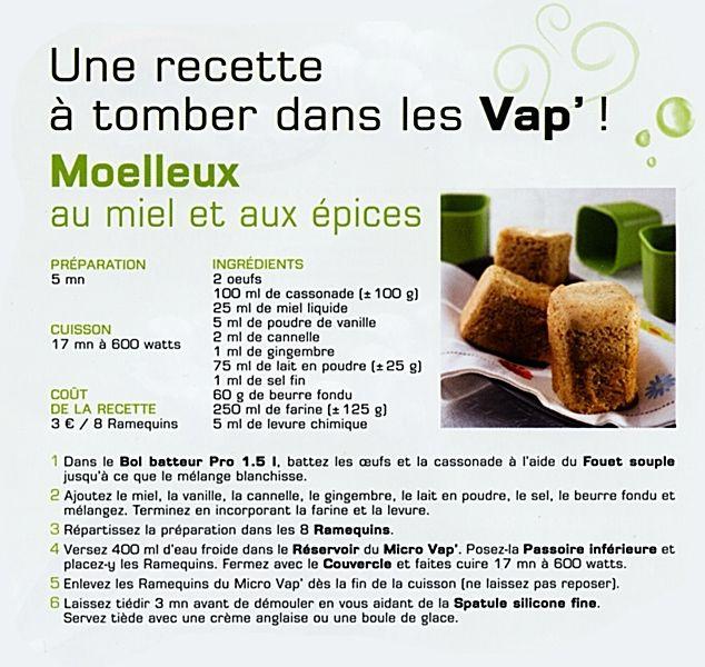 recettes avec les ramequins micro vap