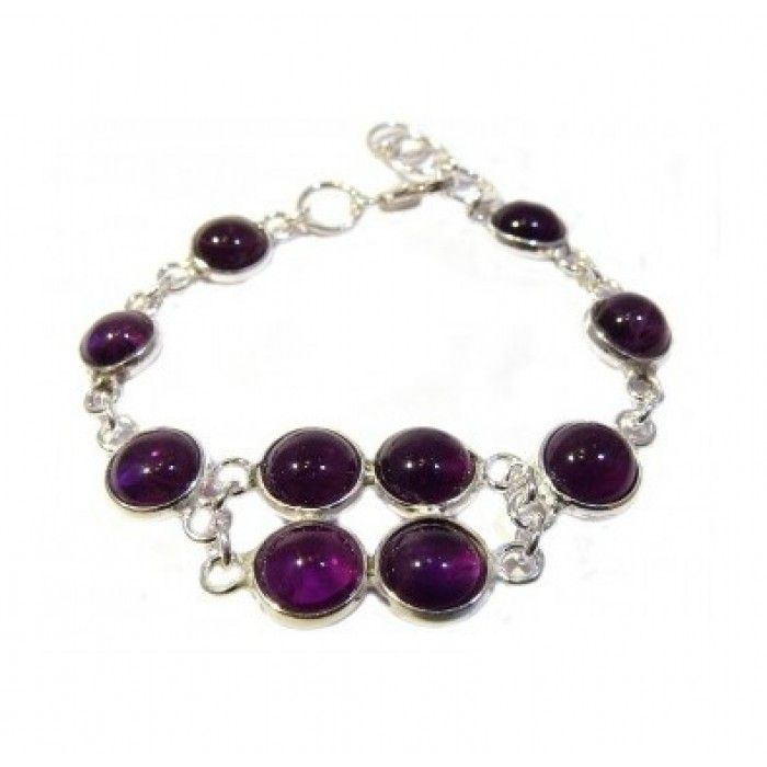 Baby Bracelets:  Sterling Silver and Amethyst Bracelet