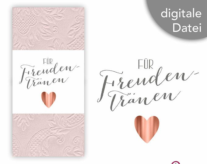 Freudentranen Taschentucher Als Diy Printable Druck Vorlage Hochzeitskarten Papeterie Als Print Und Von All2designpapeteri Handmade Gifts Wedding Handmade