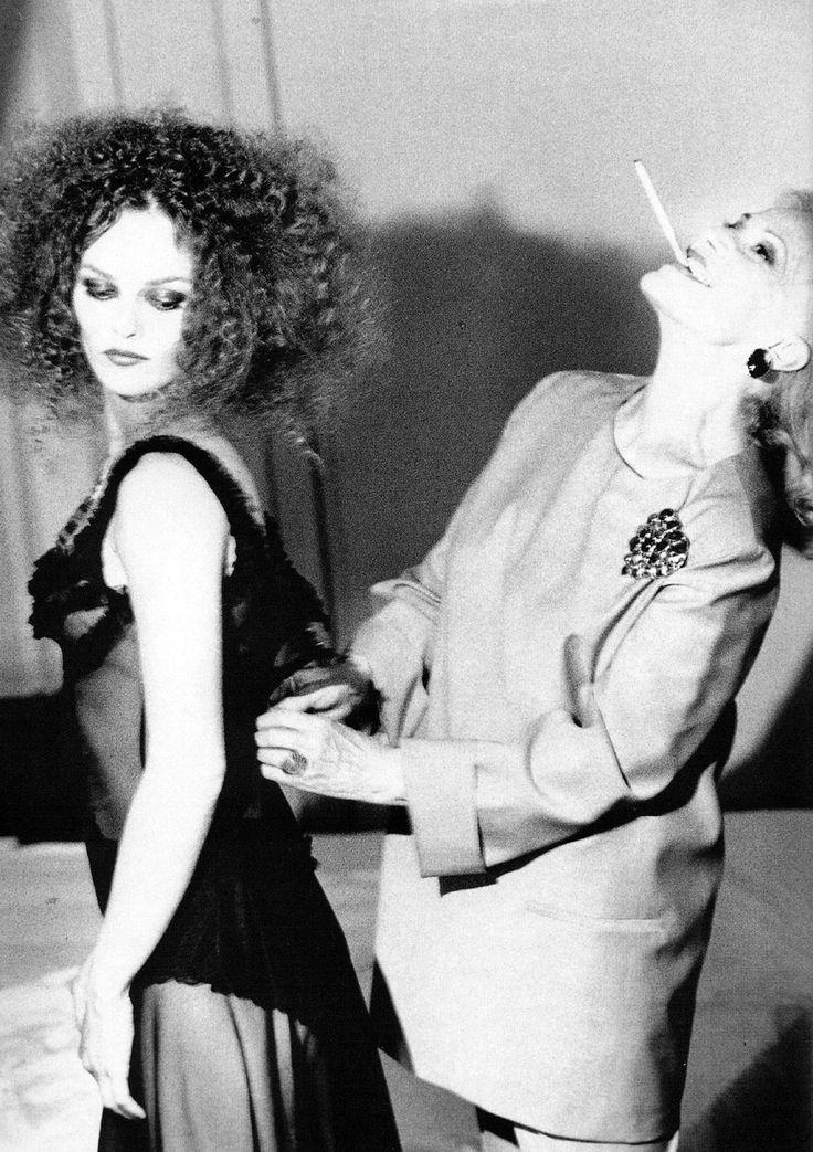 Vanessa Paradis & Jeanne Moreau by Ellen von Unwerth