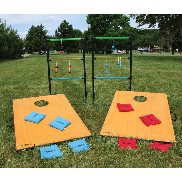 Have to have it. Triumph Sports 2-in-1 Cornhole and Ladderball Set - $75.19 @hayneedle