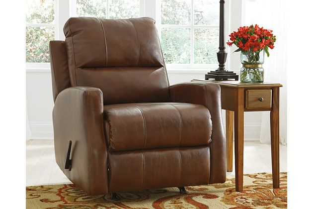 Gulfbay Recliner by Ashley HomeStore, , Leather (100 %)