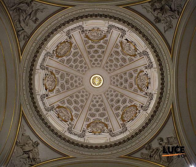 Interno della cupola della Chiesa di S.Tommaso da Villanova - Castel Gandolfo (RM)