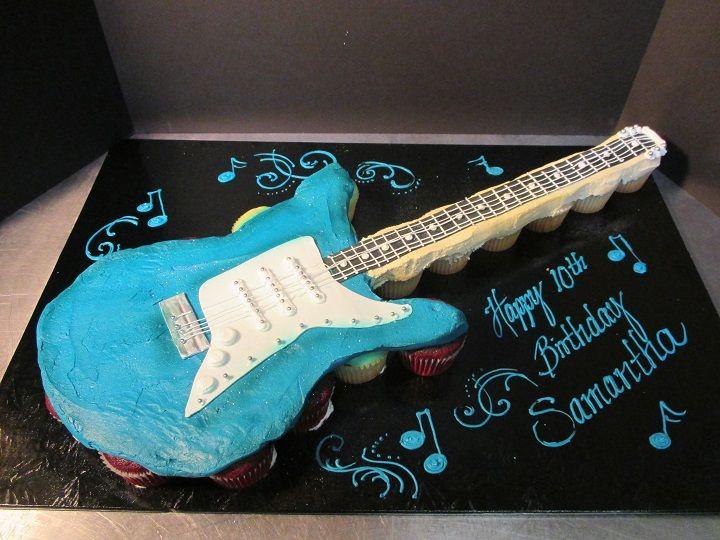 Guitar Cupcakes | Cupcake Pull Apart Cakes Lancaster | Oregon Dairy Bake Shoppe