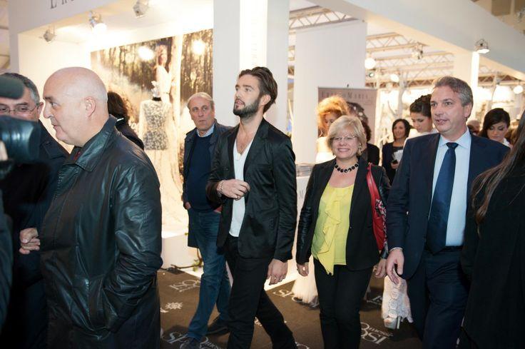 Alex Belli, Loredana Capone, Gaetano Portoghese tra gli stand di Promessi Sposi Lecce 2013