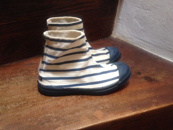 90s Jean Paul Gaultier striped nautical boots / by BooksandClothes