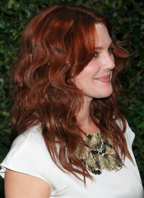Drew Barrymore Red Curly Hairstyle