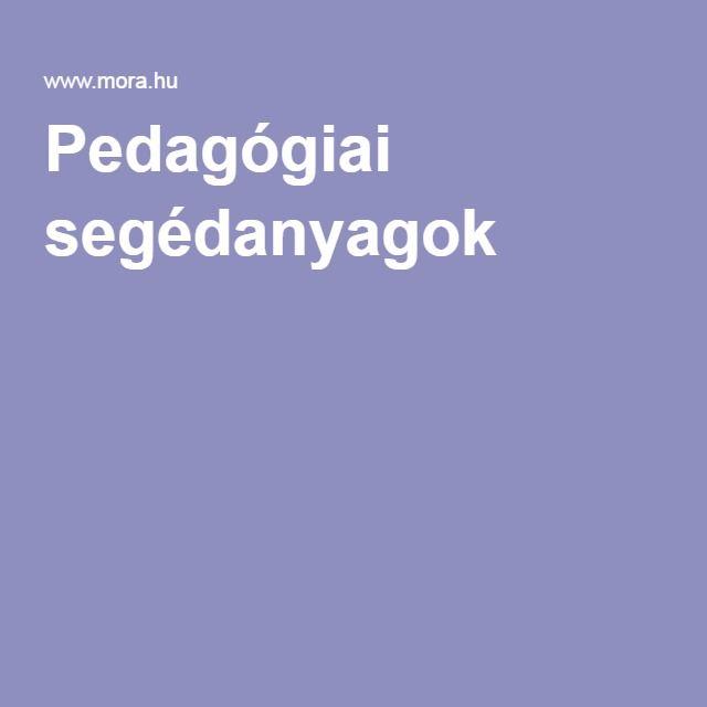 Pedagógiai segédanyagok