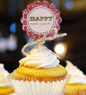 Ring in the New Year with Crafts, Food & Fun: Cupcake Topper (via Parents.com)