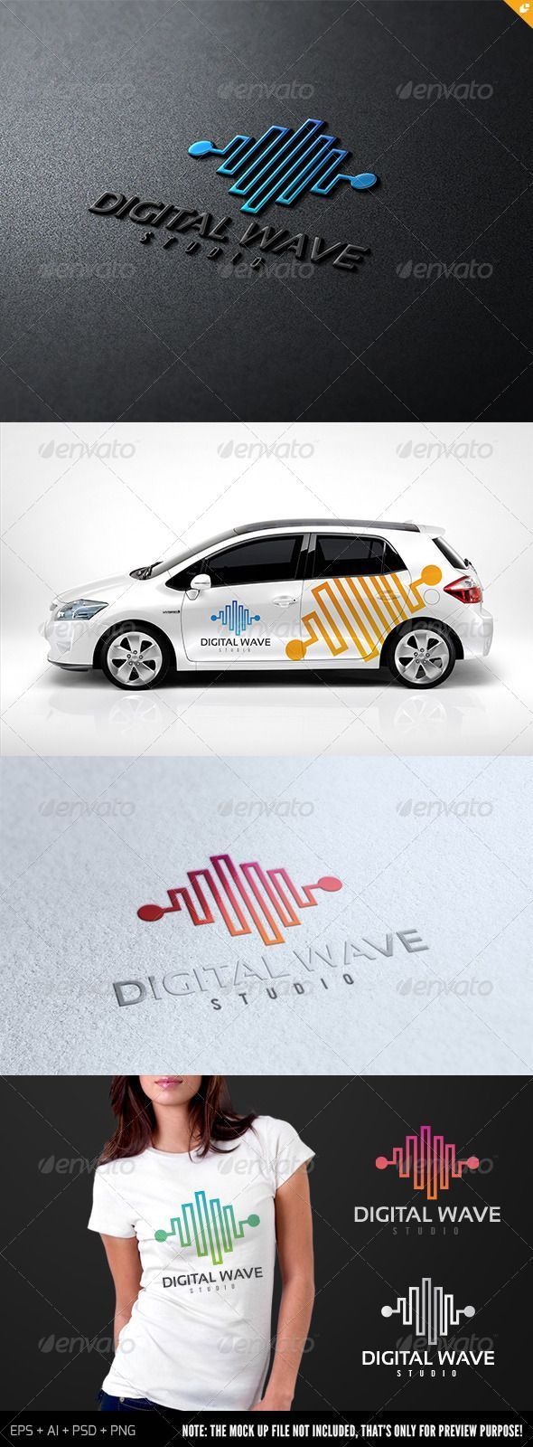 Digital Wave Studio - Logo Design Template Vector #logotype Download it here: http://graphicriver.net/item/digital-wave-studio-logo/7087099?s_rank=785?ref=nesto