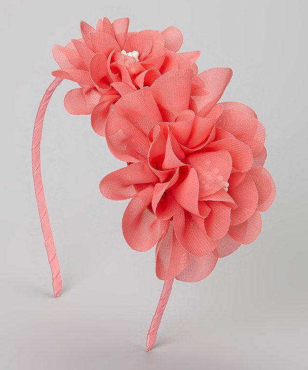 Coral Luau Headband by Chicky Chicky Bling Bling #zulily #zulilyfinds