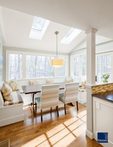25 best ideas about dining room windows on pinterest for Sunroom breakfast nook