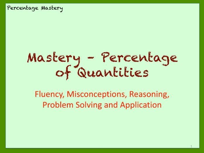 Maths Percentages: Functional Skills, GCSE Foundation, KS3