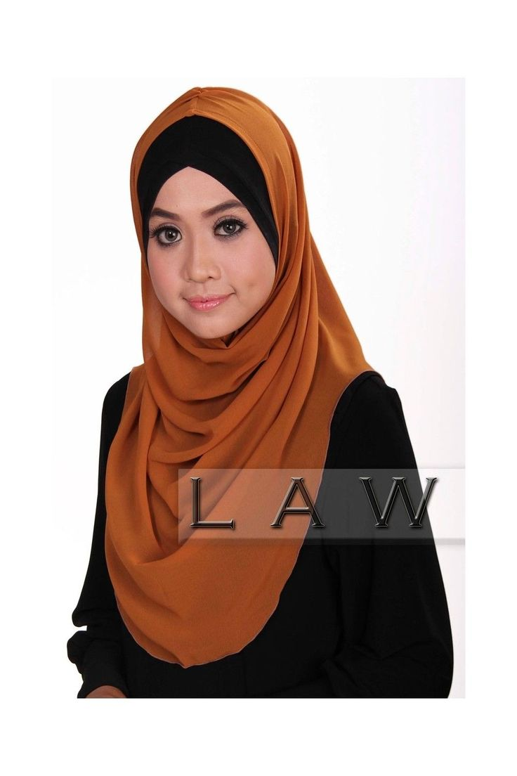 Instant Hijab For Muslim Women Rana Syria Chiffon Crepe Deep Purple Scarves