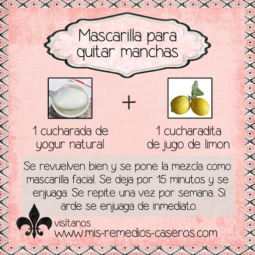Pin by andre na mendez on trucos caseros de belleza beauty hacks skin care skin tips - Como quitar las manchas de la pared ...