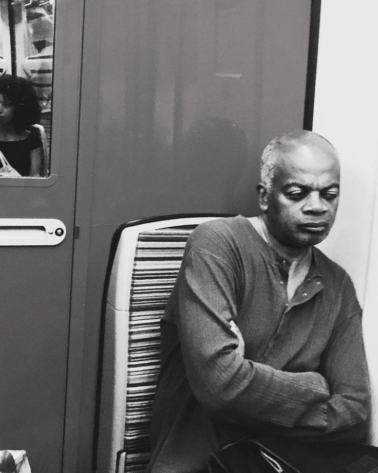 #pondering in #transit #paris #metro #bw #blacknwhite #face