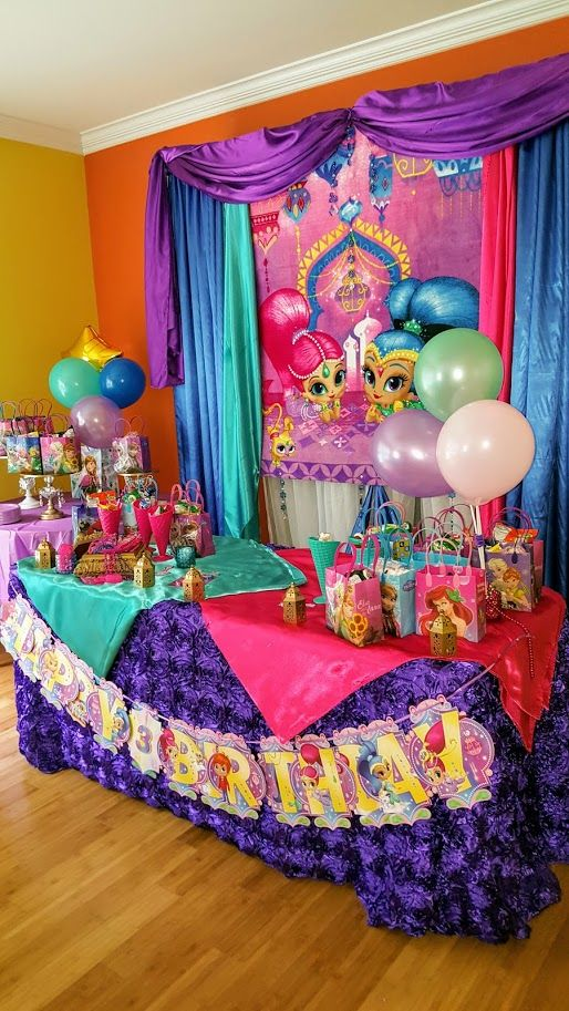 Shimmer And Shine Birthday Party Decorlee Pinterest Birthday