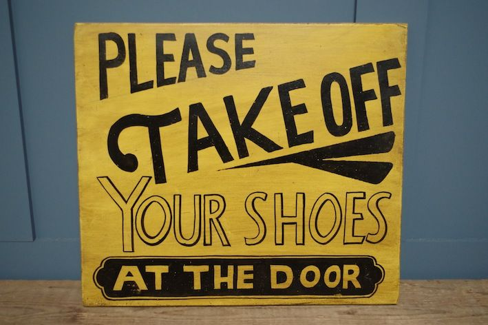 Please Take Off Your Shoes Sign, £18.00