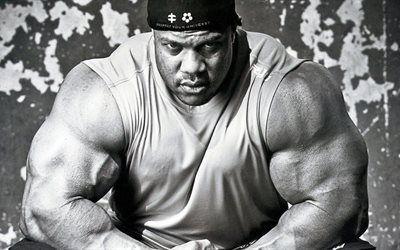 壁紙をダウンロードする スポーツ, 重量, 上腕二頭筋, bodybuilding, 筋肉, mrオリンピア, bodybuilder, ヒースフィル