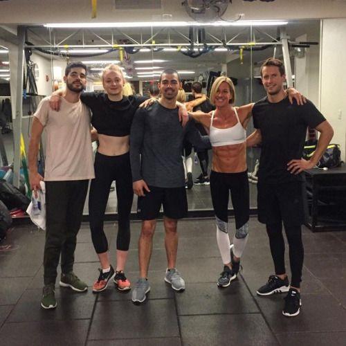 Sophie Turner training with bf Joe Jonas