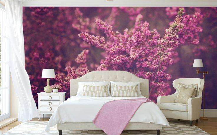 """Pink Fynbos"" © Natascha van Niekerk Custom photographic wallpaper printed to any size. Fine Art Photography for home decor."