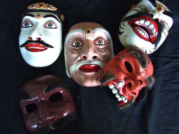Topeng pajegan masks in Bali