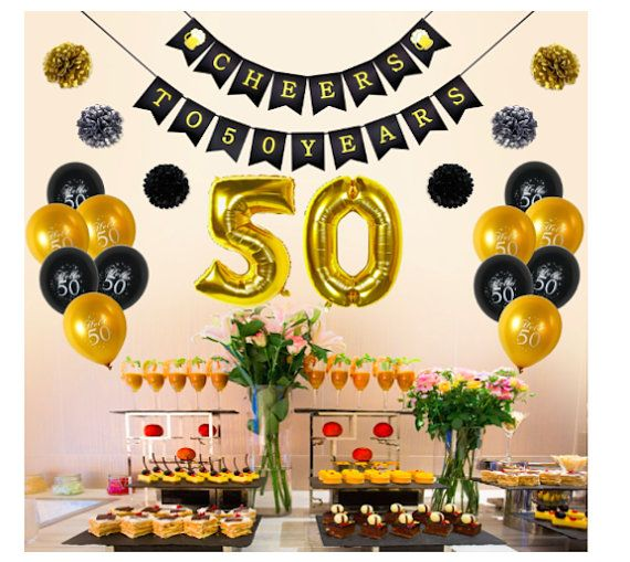 50th Birthday Decoration Party Balloon 50th Number Balloons 50th