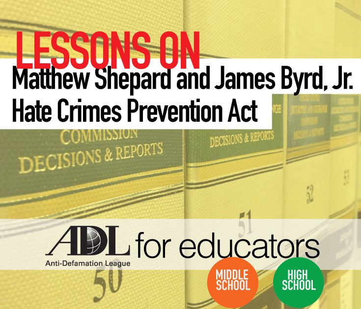 Teach the hard lessons that came from the death of Matthew Shepard and James Byrd Jr.