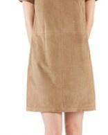 Robe en daim vue dans Comment ça va bien ! sur #France2 #dress #mode #fashion