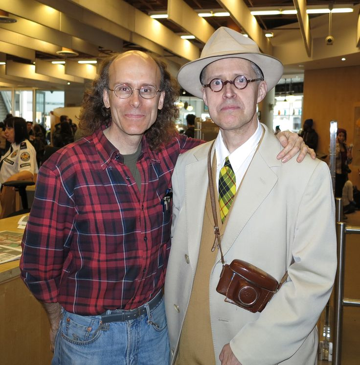 """Steven Frank recently visited the shop, and was kind enough to share this photo of Chester Brown and Seth, the """"low-key titans of the Canadian graphic novel industry"""", at the 2016 Toronto Comic Arts Festival. Photo by Steven Frank"""