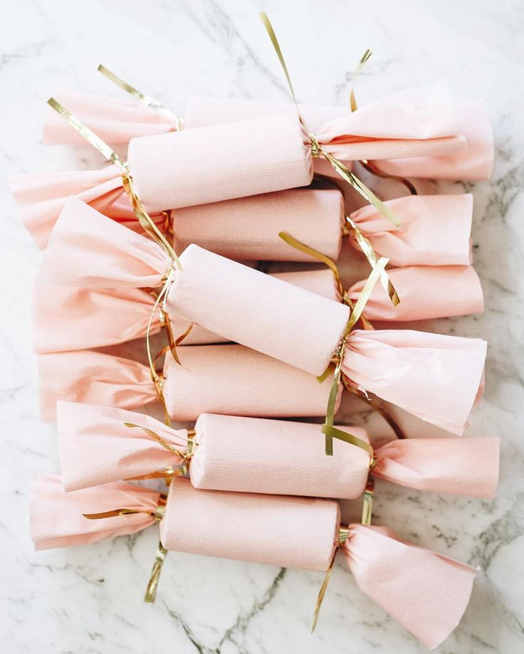 Handmade Pink Christmas Crackers