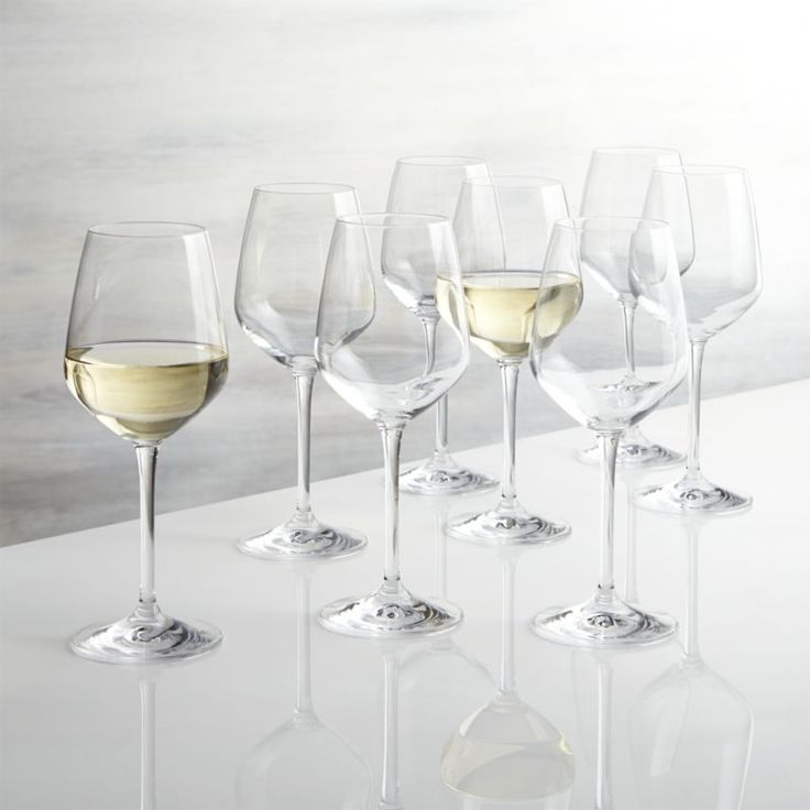 Drink your favorite beverage in style with wine glasses and stemware from Crate and Barrel. Browse a variety of wine glasses, tumblers and acrylic stemware.