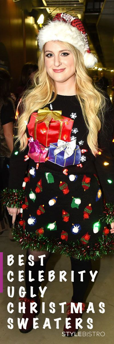 Celebrities Rocking Ugly Christmas Sweaters - YouTube