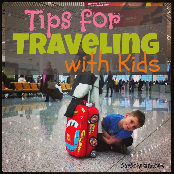 Some seriously amazing and well thought out tips and tricks from Sun Scholars on Traveling with Kids! Learn how to plan ahead, what to pack in checked and carry on luggage, road trip tips, tricks of the trade, general travel advice and so much more!