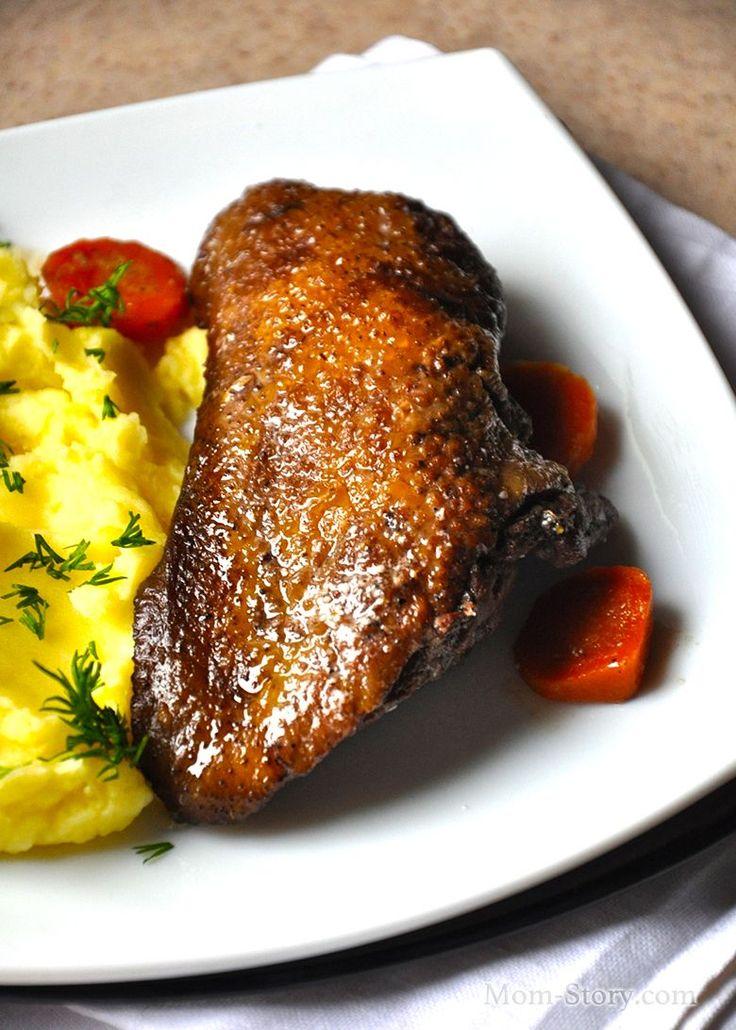 Очень вкусная, сочная, ароматная утка тушеная с апельсинами в казане, рецепт с пошаговыми фото