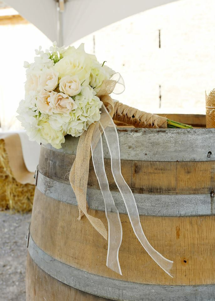 Beautiful bouquet for a Wedding in a Barn