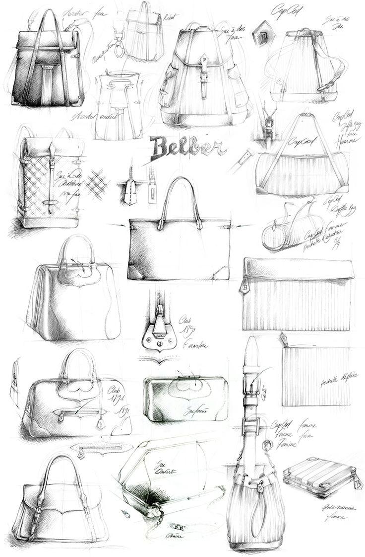 illustration sac maroquinerie Belber Florence Gendre ~ sketching...