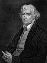Thomas Jefferson, retired president. A farmer hurt by the year without a summer. 1816'
