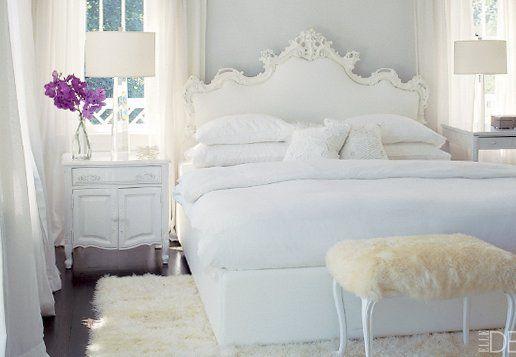 from Elle DecorGuest Room, Elle Decor, Bedrooms Design, White Bedrooms, Elledecor, Painting Colors, Bedrooms Decor, Shabby Chic Bedrooms, White Room