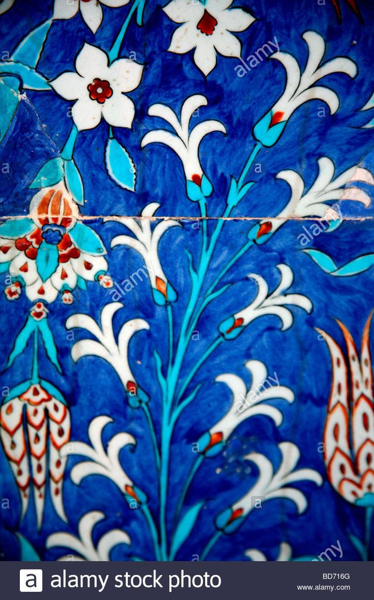 Iznik Tiles, 16th Century Rustem Pasha Mosque, Istanbul Turkey ...