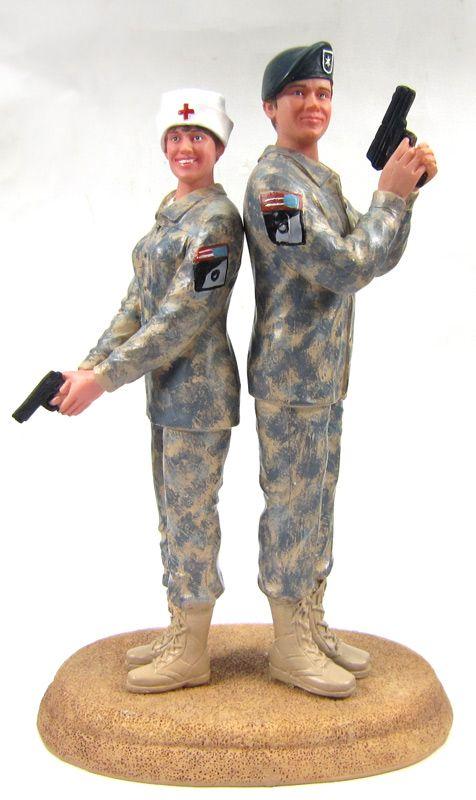 Custom US Army Combat Uniform Cake Topper