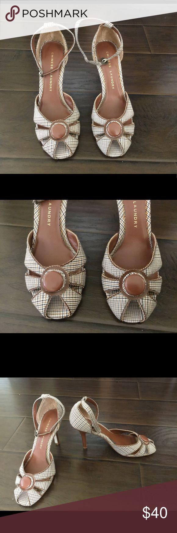 Brand new elegant open toe Chinese laundry heels Brand new , size 8.5 Chinese Laundry Shoes Heels