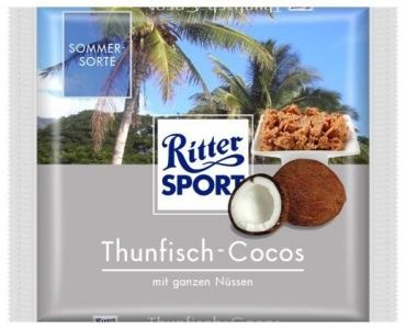 RITTER SPORT Fake Schokolade Thunfisch-Cocos