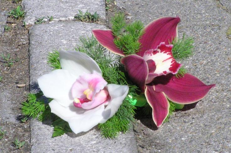 Orchidea kitűzők